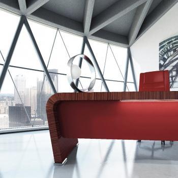 Meubles bureau rouge design Vanity