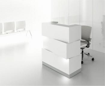 Comptoir d'accueil éclairé blanc ZEN