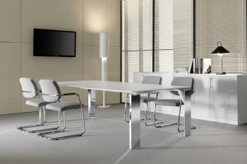 Table de réunion plateau mélamine