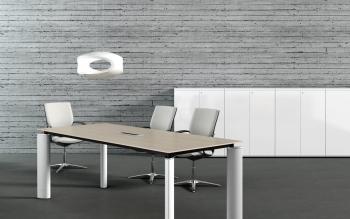 Table de réunion mélamine CRYSTAL