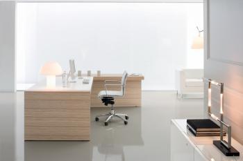 Bureau zebrano et laqué blanc
