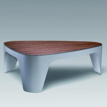 Table basse plateau linoléum