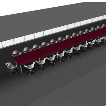 """Tables de réunion plateau stratifié brillant """"effet verre"""""""
