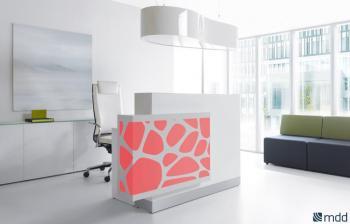 Comptoir d'accueil illuminé Organic