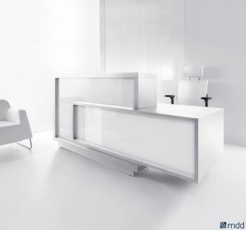 Banque d'accueil blanche design