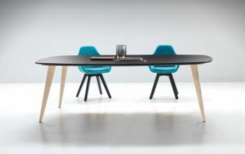 Table bois laqué bicolore PIGRECO