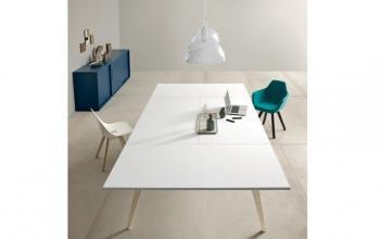 Table de réunion blanche PIGRECO