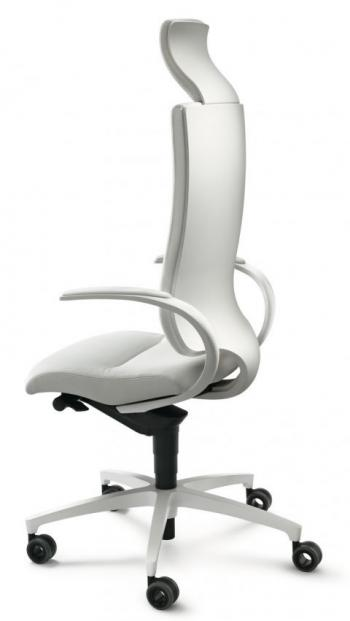 IN TOUCH fauteuil cuir blanc