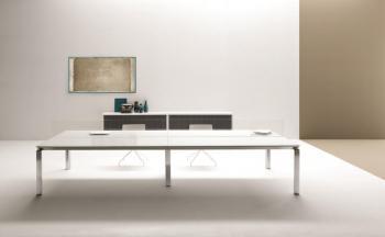 Table  de réunion Han plateau verre