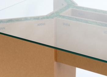 SMALL table basse dessus verre