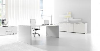 mobilier de bureau blanc