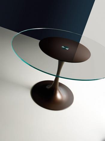 Table de réunion verre ronde KONO