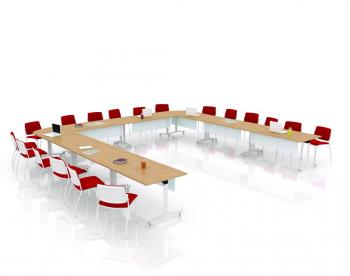 Table plateau basculant FOLD en U