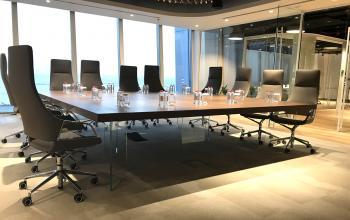 Table de réunion KYO pied verre