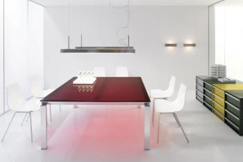 Table  carrée HAN plateau en verre