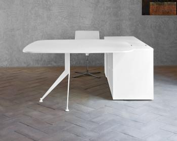 Bureau table carrée avec meuble retour