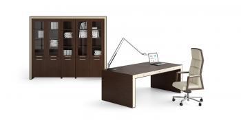 Bureau et armoire haute
