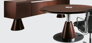 Crédence et table CHENE FONCE