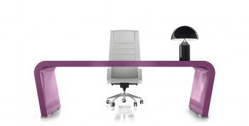 Bureau design Vanity violet