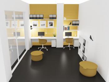 Bureau home office poste double New Pano