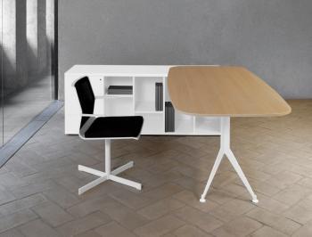 Bureau bicolore avec meuble retour