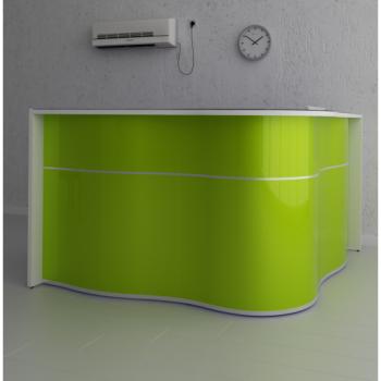 Wave comptoir réception vert