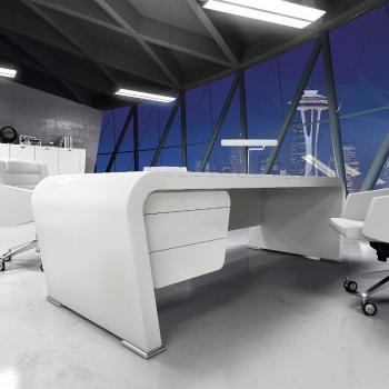 Mobilier de bureau blanc direction Vanity