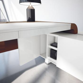 Détail meuble retour blanc