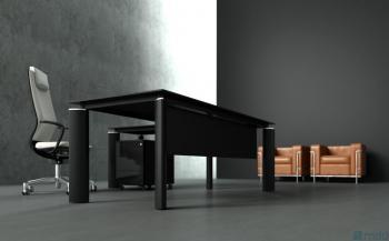 Bureau design verre noir Crystal