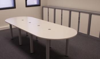 Table réunion conférence arrondie