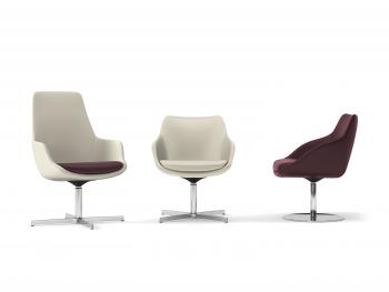 Métropolitain, fauteuils dossiers moyen et bas