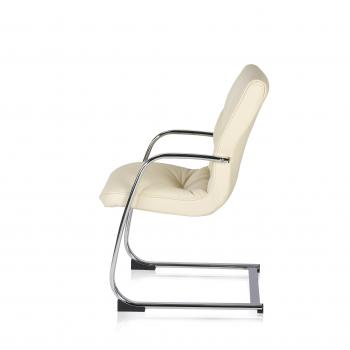 Fauteuil BOSS luge cuir blanc dil