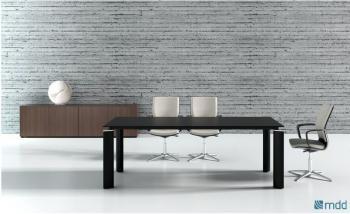 Table CRYSTAL verre noir ou blanc