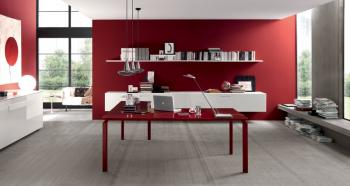 Bureau design rouge