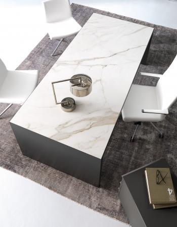 Plateau grès blanc bureau Wing Glamour