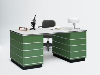 Bureau double caisson vert
