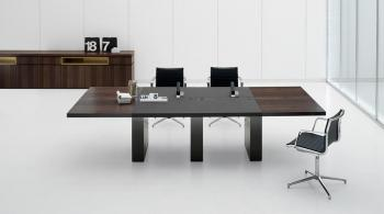 Ar tu table de réunion contemporaine bois