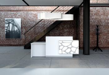 mobilier d'accueil PMR Organic illuminé