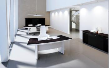 Bureau noir et blanc Arco