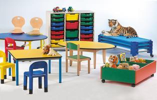 Mobilier maternelle petite enfance tables chaises rangements