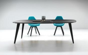Table plateau bois laqué PIGRECO