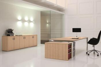 Bureau bois  et aluminium