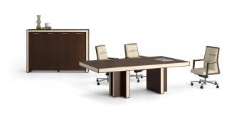 Table de réunion et armoire moyenne