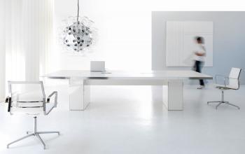 Table de réunion Wing blanche