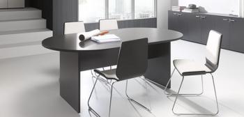 Table de réunion ovale NEW PANO mélamine