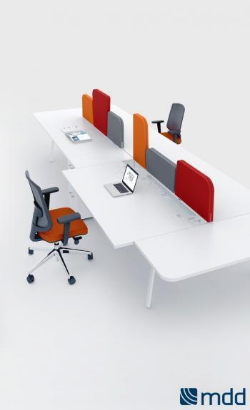 Table bench avec séparations tissu