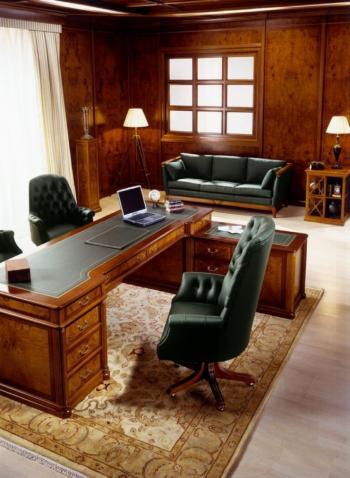 Bureau avec cuir