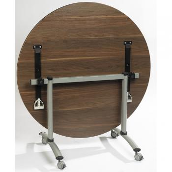 Table ronde polyvalente plateau basculant DOMINO