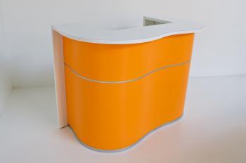 Banque réception moderne orange
