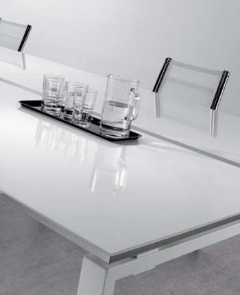 Table de réunion plateau luxe brillant